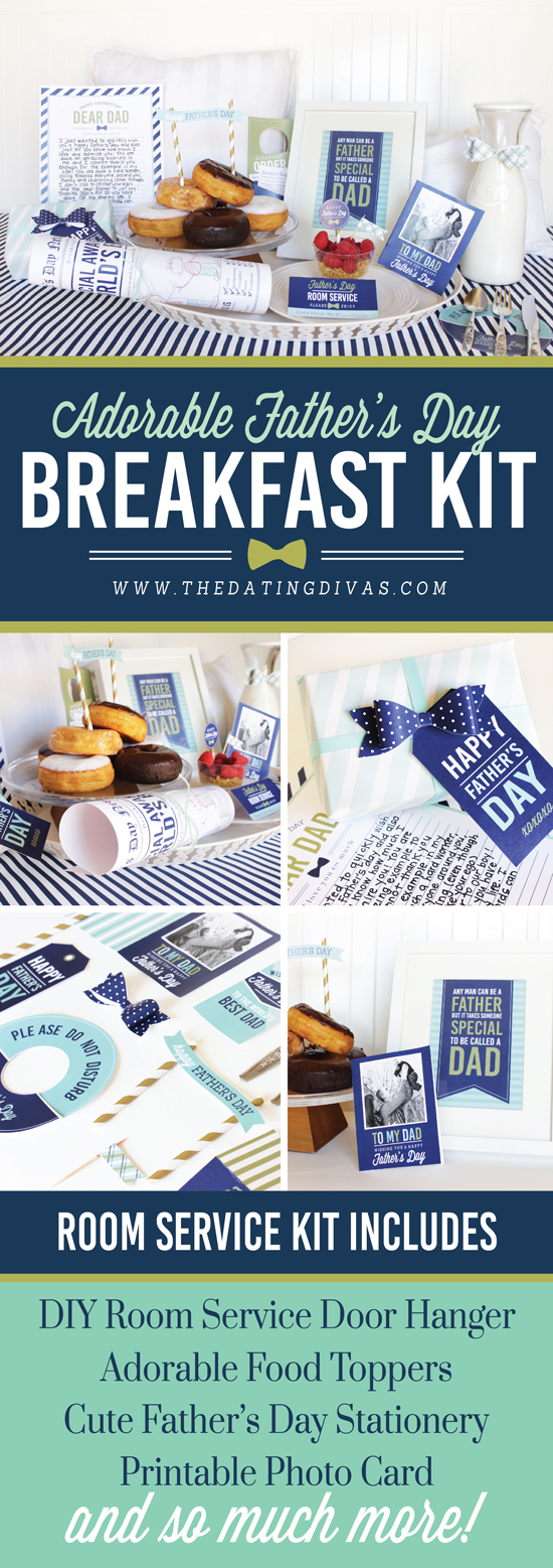 Father's Day Breakfast in Bed Printable Pack