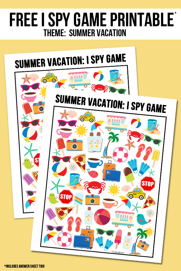 Printable iSpy Game