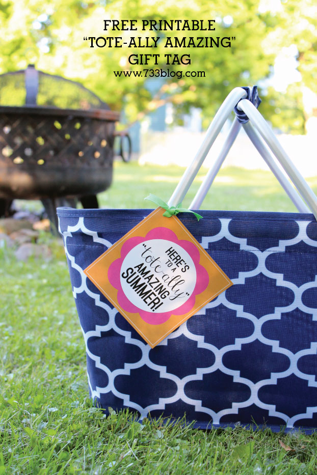 "Here's to a ""TOTE-ally"" amazing Summer! Teacher Thank You Gift Tag"