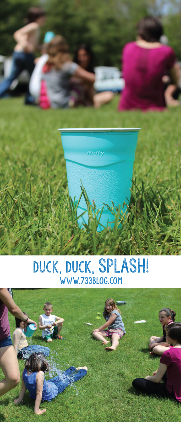 Duck, Duck, Splash Children's Game - a fun take on a classic game, perfect for warm days!