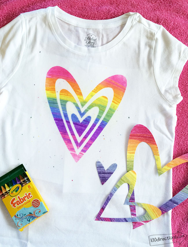 DIY Rainbow Art T-Shirt
