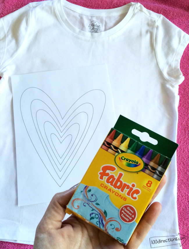 DIY Rainbow Art T-Shirt Tutorial