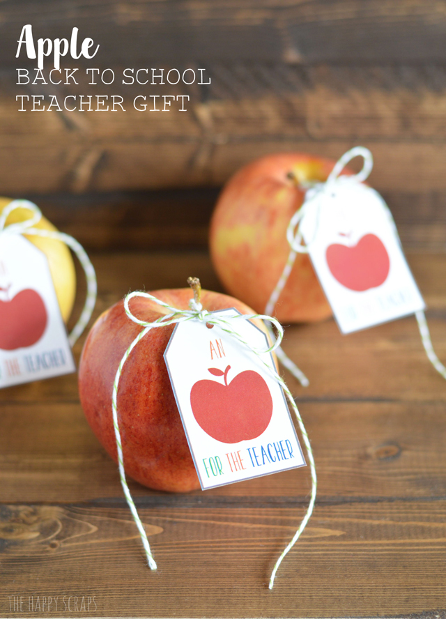Apple Back to School Teacher Gift