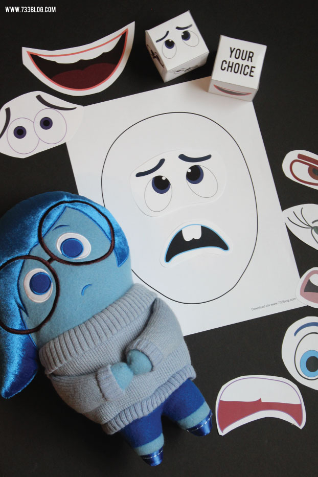 Inside Out inspired Mixed Up Emotions Game