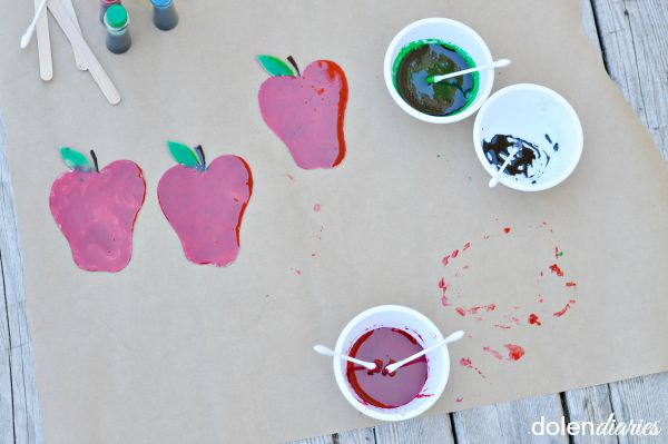 fun kids craft painting with corn syrup paint
