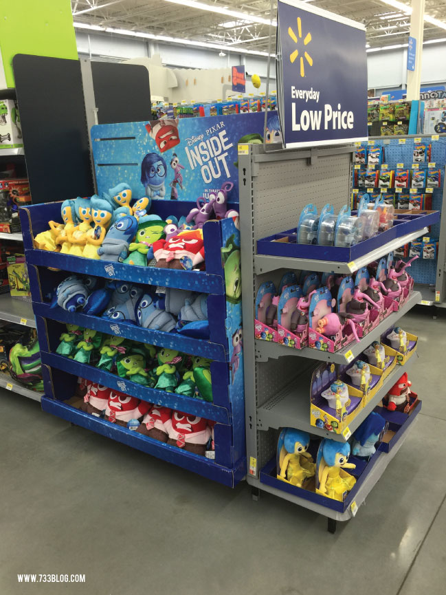Inside Out toys available at Walmart