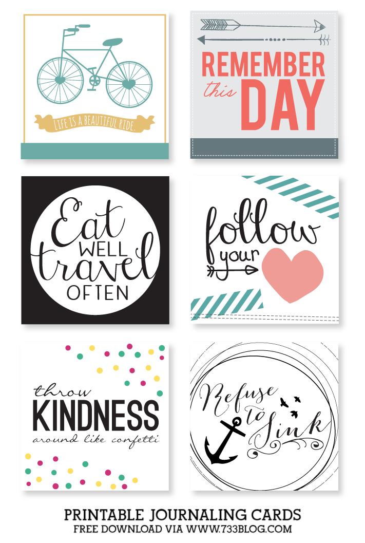 Printable Journaling Cards – Collection 3