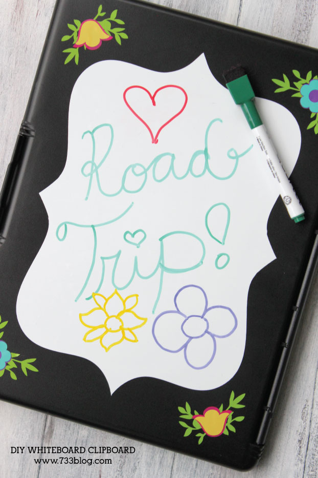 DIY Road Trip Activity Clipboard