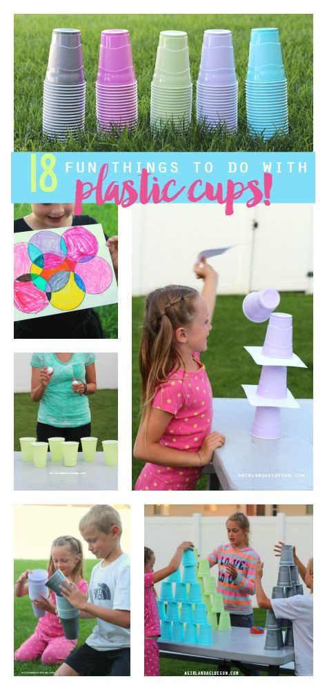 18 Fun Things To Do With Plastic Cups Inspiration Made Simple