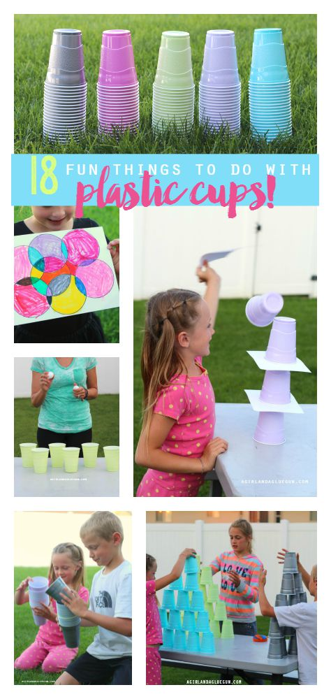 Keep the kids busy all summer long with these 18 fun things to do with a plastic cup!