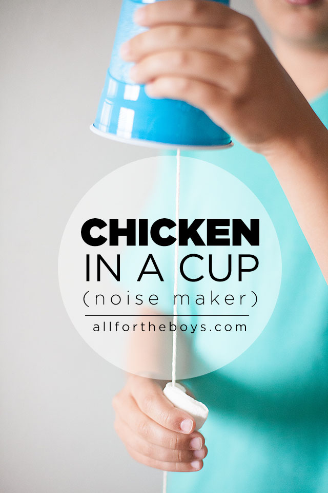 Chicken in a Cup Noise Maker
