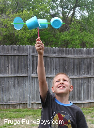 Make a cup anemometer and more fun things to do with plastic cups