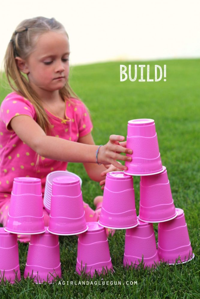 Building with Plastic Cups and more fun things to do with plastic cups!