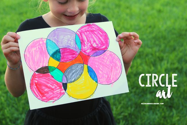 Circle Art with Plastic Cups