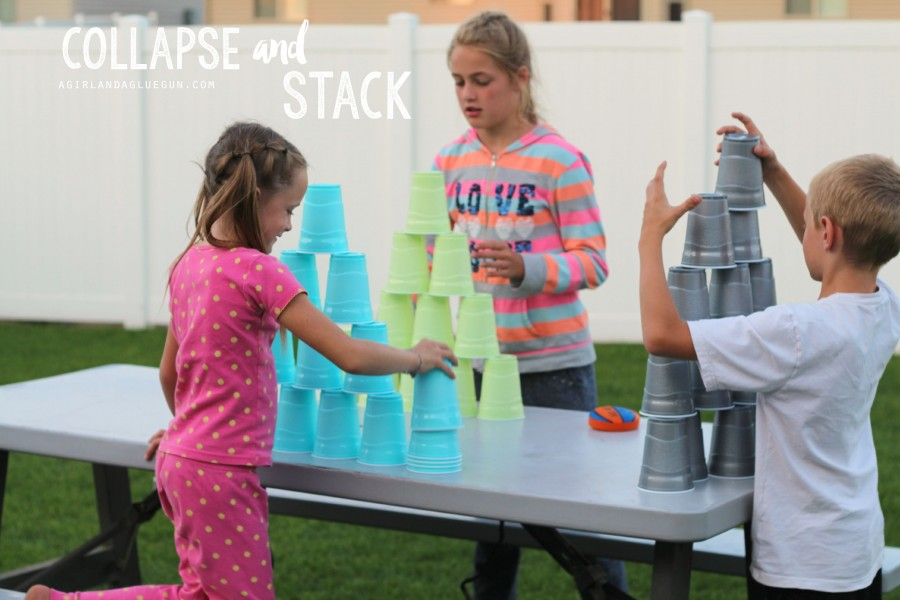 Collapse and Stack Cup Game