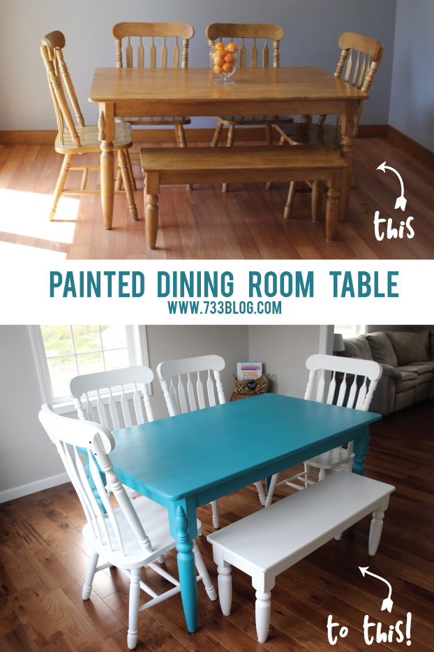How To Paint a Cherry Wood Table White  No sanding