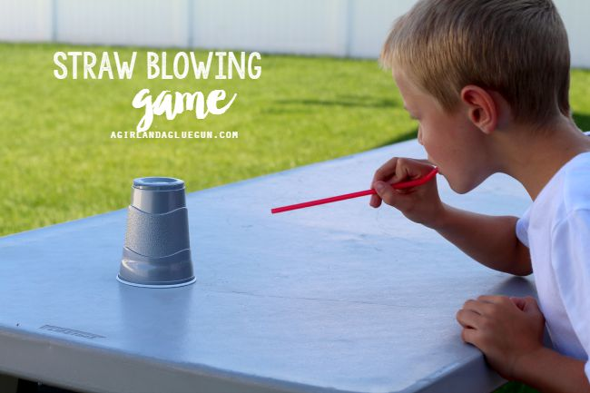 Straw Blowing Cup Game and more fun things to do with cups!