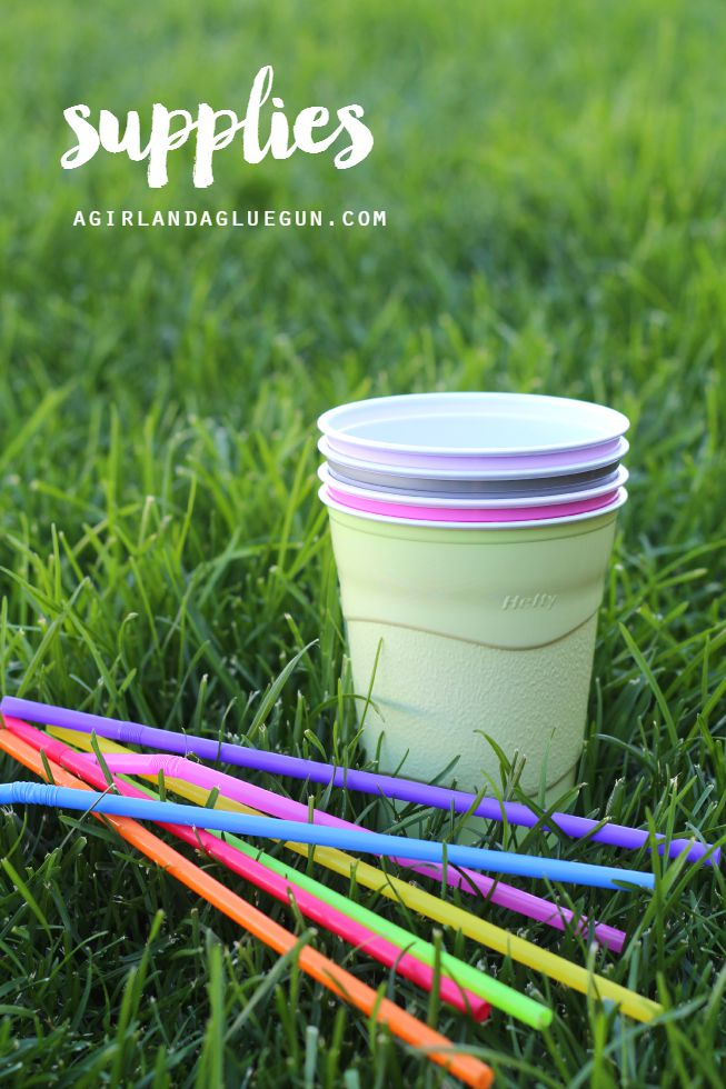 STRAW BLOWING GAME Straw Blowing Cup Game