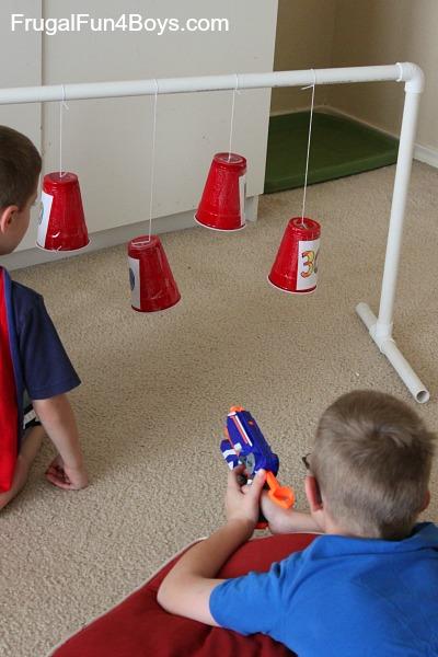 Swinging Nerf Gun Targets