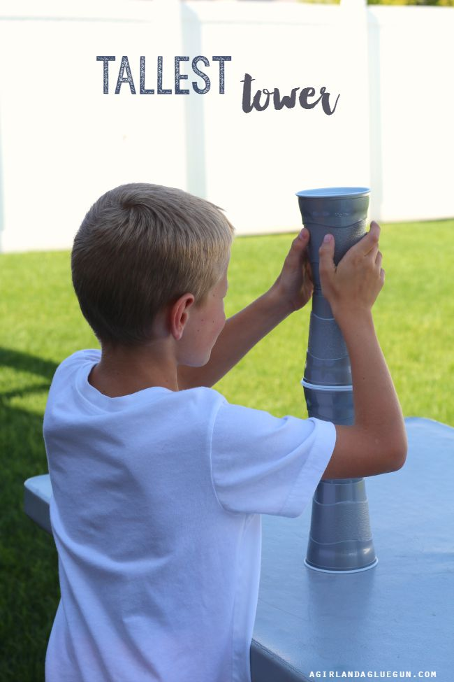 Tallest Tower Cup Game and more fun things to do with plastic cups!
