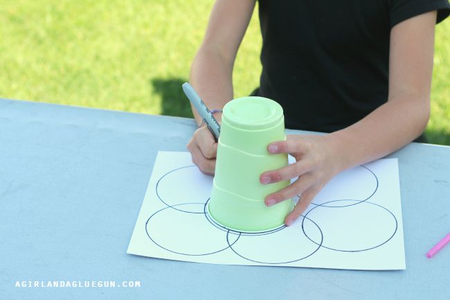 Circle Art with Cups