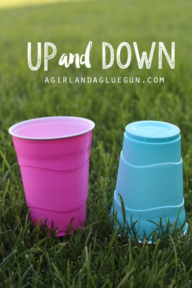 Up and Down Cup Game and more fun things to do with plastic cups