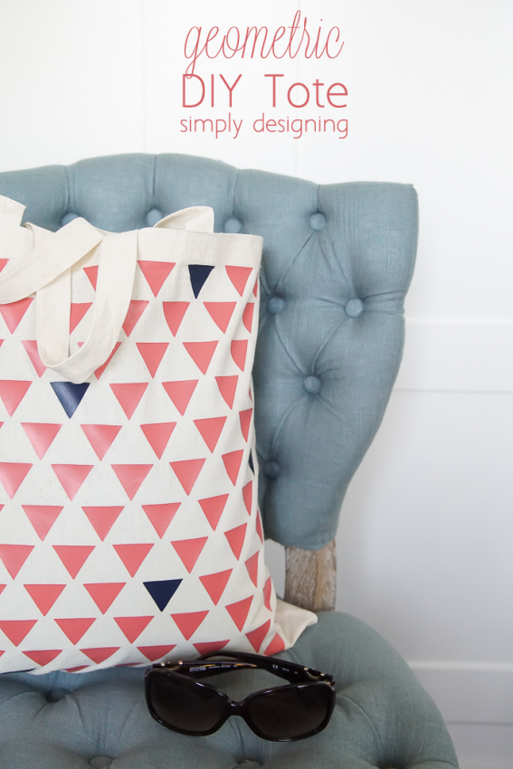 DIY Geometric Tote Bag