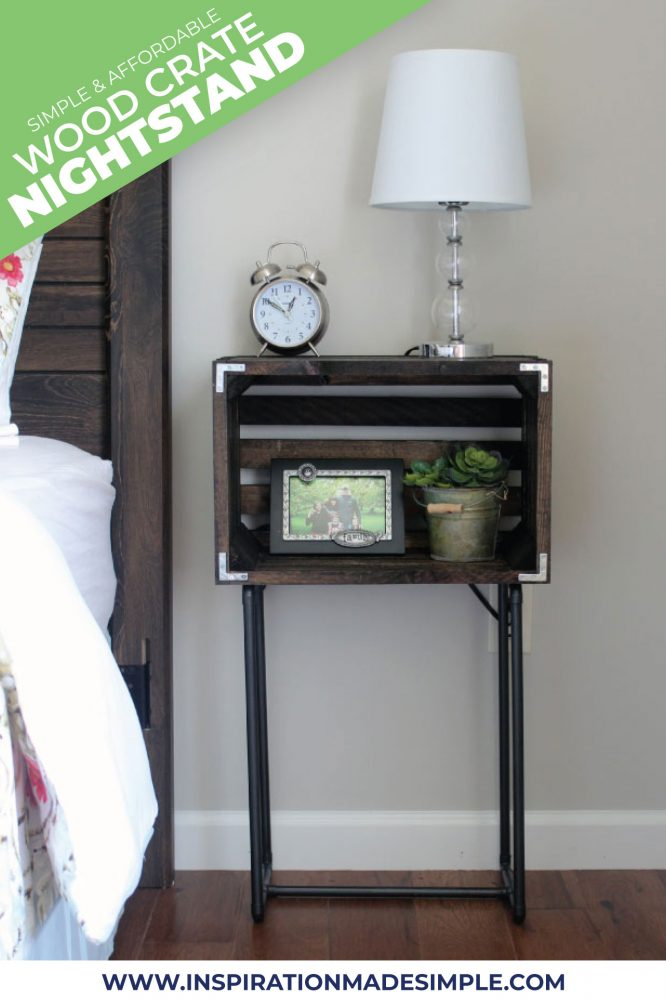 DIY Wood Crate Nightstands