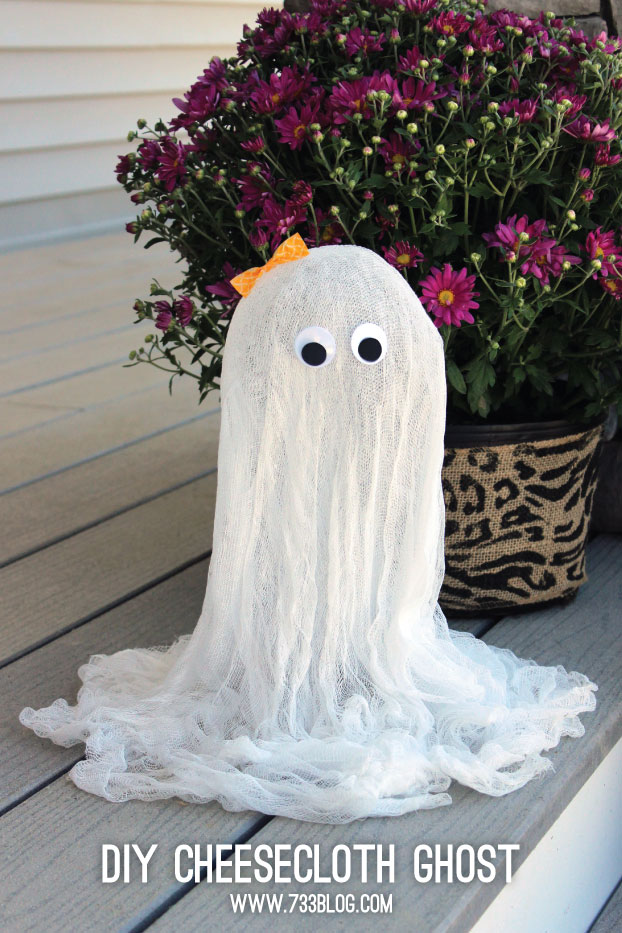 DIY Cheesecloth Ghost - Make 2 for $5