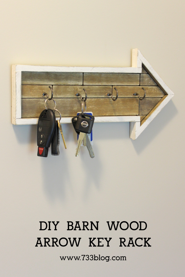 DIY Rustic Key Rack