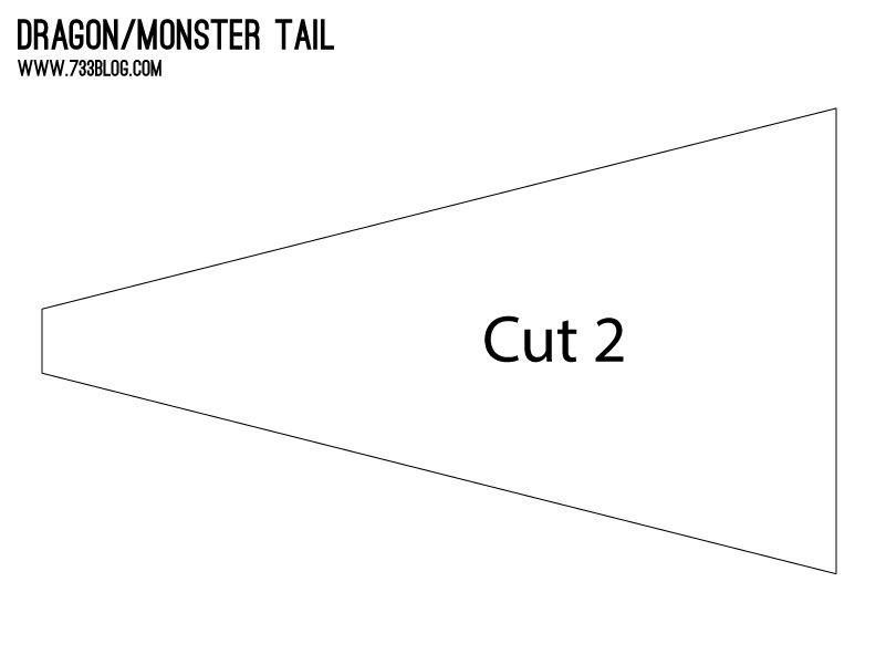 DIY Dragon Tail Pattern