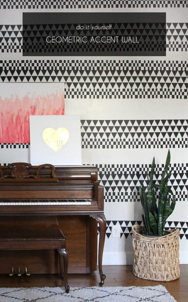 DIY Geometric Vinyl Wall