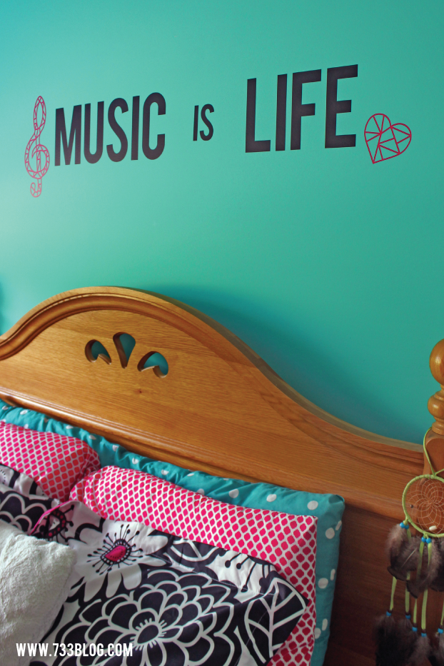 Music is Life Geometric Vinyl Wall Art