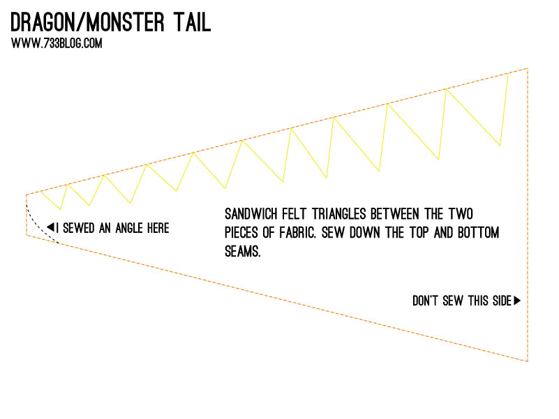 DIY Monster Tail Pattern