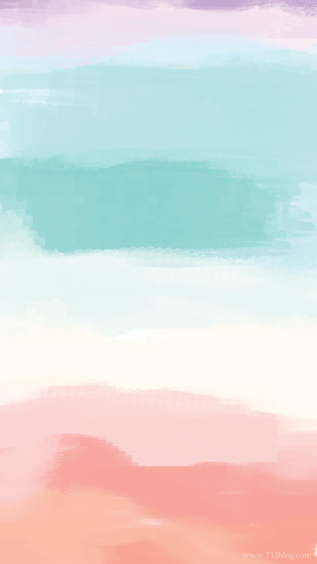 Free Watercolor iPhone Wallpaper