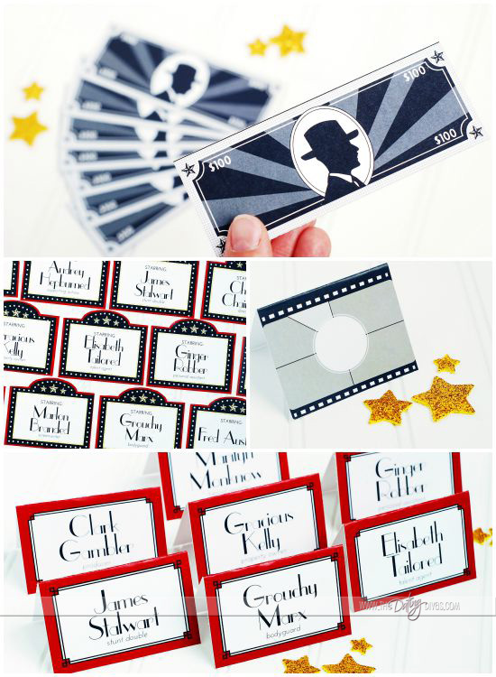 Hollywood Glam Murdery Mystery Printable Party Pack