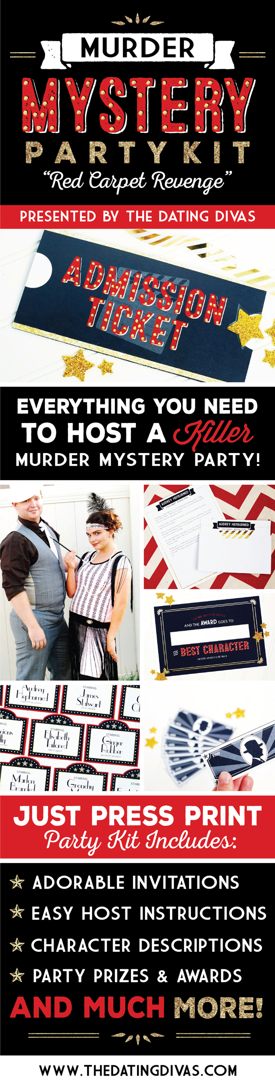 Murder Mystery Party Printable Pack
