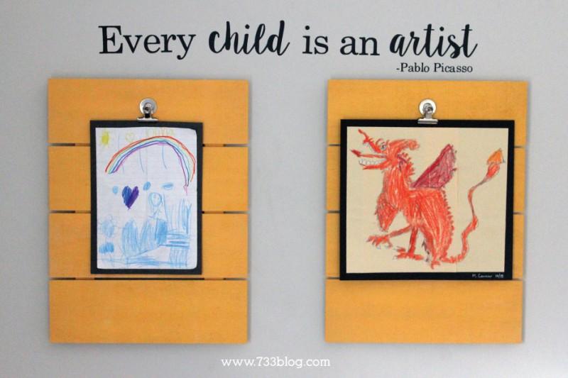 Every Child is an Artist Children's Art Display Idea