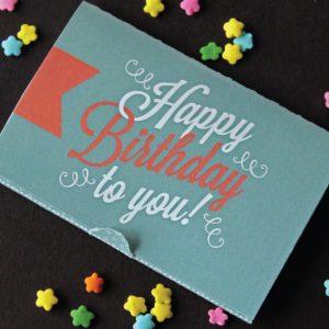 Birthday Gift Card Holder