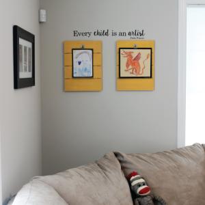 DIY Child's Art Display Idea