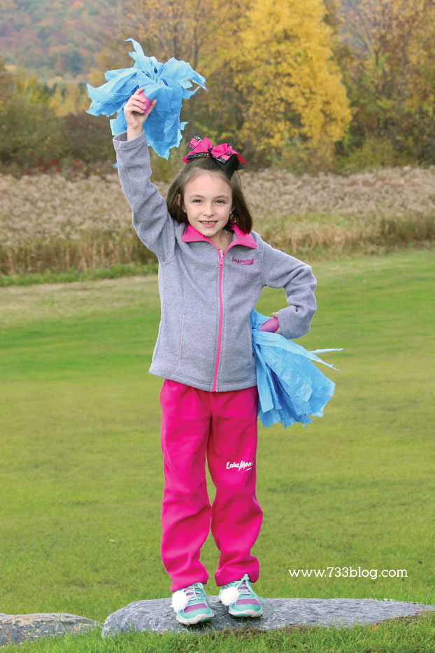DIY Cheerleader Costume for Cold Weather