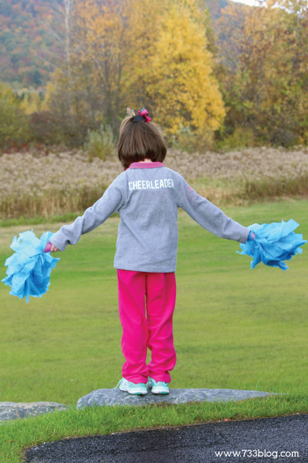 DIY Cheerleader Halloween Costume for Cold Weather