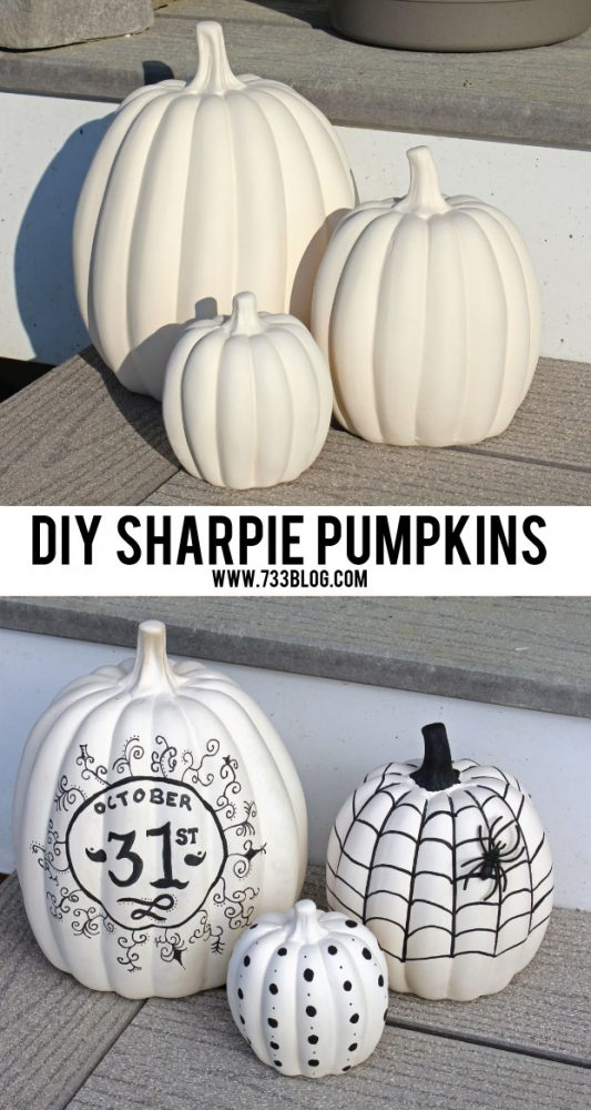 DIY Sharpie Pumpkins