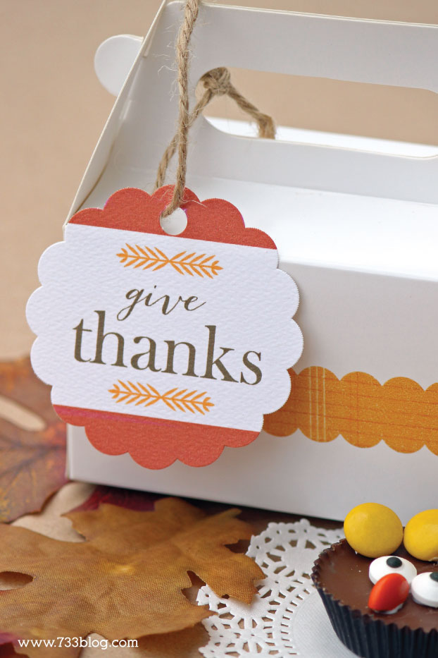 "Free Printable ""Give Thanks"" Gift Tags"