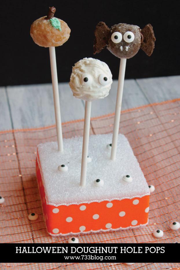 DIY Halloween Doughnut Hole Pops