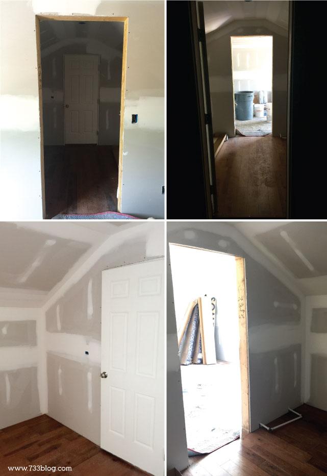 Unfinished Master Closet