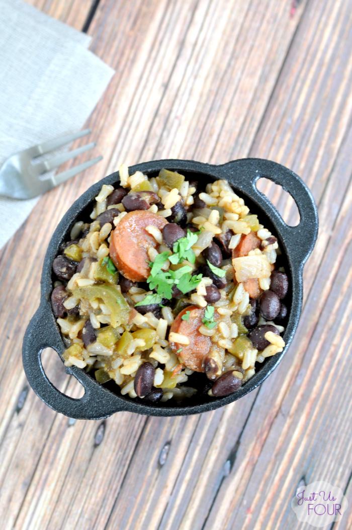 One Pot Cajun Beans and Rice
