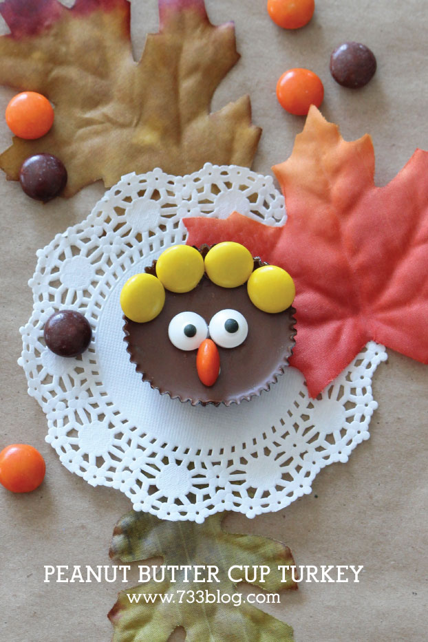 Peanut Butter Cup Turkey Thanksgiving Treat Idea