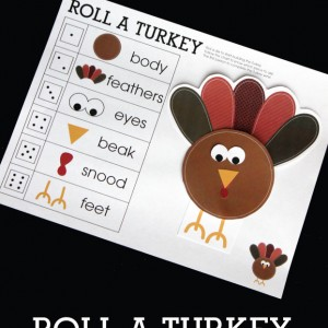 Roll a Turkey Children's Game