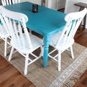DIY Stenciled Seagrass Rug